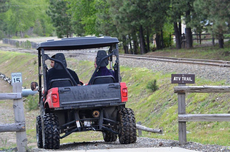 UTV entering trail