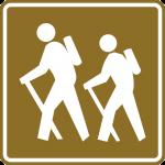 Hiker x-ing