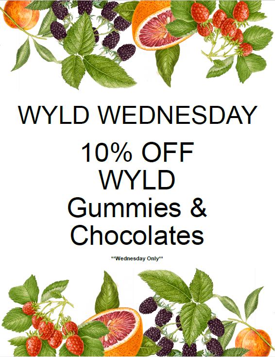 Wyld Wednesday 10% off gummies