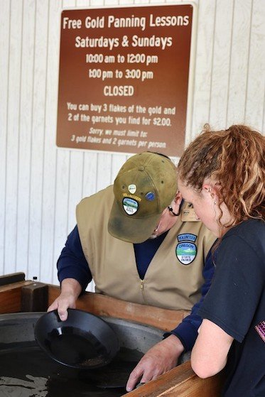 Gold panning lesson
